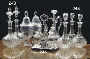 A Dutch silver cruetstand