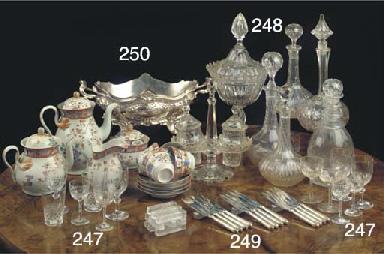 (10) FIVE VARIOUS CUT-GLASS DE