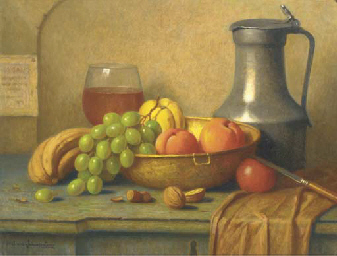 A tavern still life with fruit