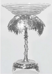 (2) A German silver-plated and