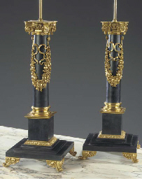 (2) A pair of gilt-metal-mount
