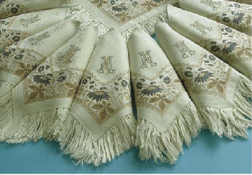 (12) Twelve damask linnen napk