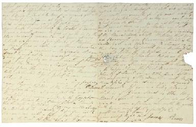 BRUCE, James. Autograph letter