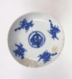 SIX UNDERGLAZE BLUE AND WHITE