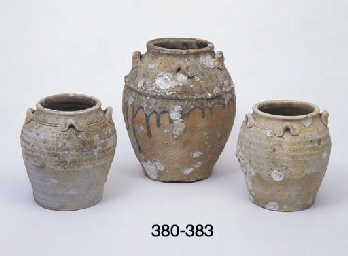 A PARTIAL GLAZE TERRACOTTA STO
