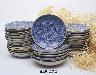 FIFTY SIMILAR PLATES	 (50)