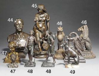 A French bronze figure of a la