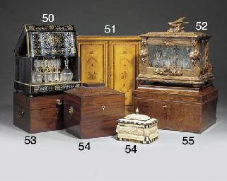 A Regency mahogany sarcophagus