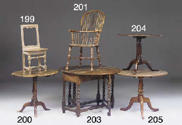 A FRENCH OAK SOLID-SEAT CHAIR