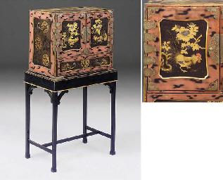 A Japanese lacquer and gilt de