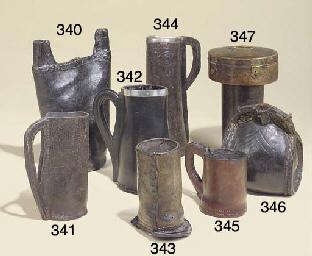 A leather bottle holder