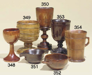 A fruitwood goblet