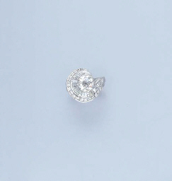 A DIAMOND CLUSTER RING, BY FAR