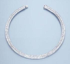 A TWO-ROW DIAMOND NECKLACE
