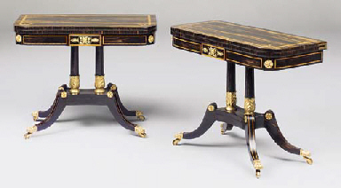 A PAIR OF REGENCY ORMOLU-MOUNT