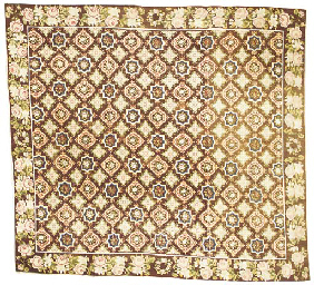 A FRENCH GROS POINT NEEDLEWORK