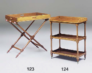 A FRUITWOOD THREE-TIER OCCASIO