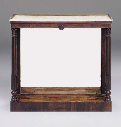 A GEORGE IV ROSEWOOD CONSOLE T
