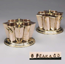 A PAIR OF ENGLISH COPPER AND B