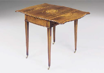 A GEORGE III ROSEWOOD AND MARQ
