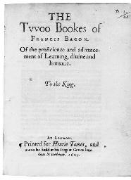 BACON, Francis (1561-1626). Th