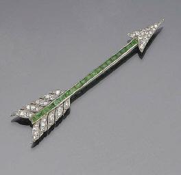 A diamond and emerald arrow br