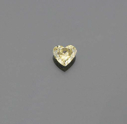 A heart shaped brilliant-cut d
