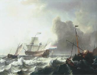 A Dutch twenty-gun frigate dis