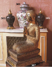 A BURMESE GILT AND LACQUERED-B