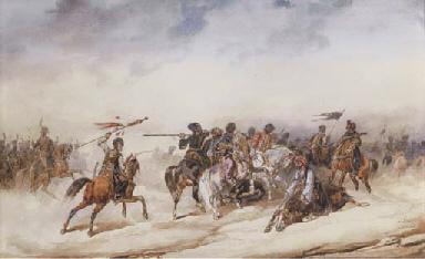 Turkish cavalry in battle skir