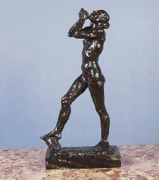 A BRONZED ELECTROTYPE FIGURE O