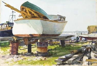Boatyard, Essex, Connecticut