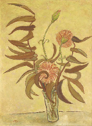 Still life with exotic flowers
