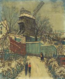 Montmartre under snowfall