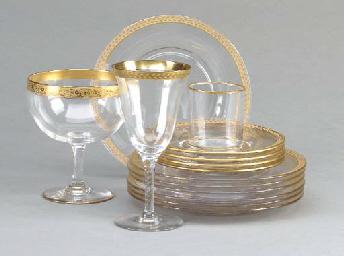 AN EDWARDIAN GLASS FACETED PAR