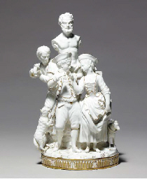 A MEISSEN (MARCOLINI) GILT AND