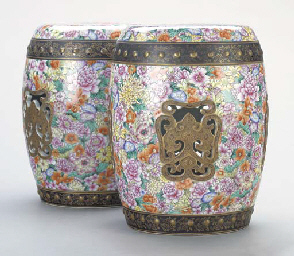 A PAIR OF CHINESE PORCELAIN GA