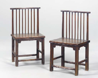 A PAIR OF CHINESE SPINDLE-BACK