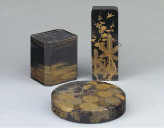 THREE JAPANESE LACQUER BOXES,