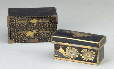 TWO SMALL JAPANESE LACQUER BOX