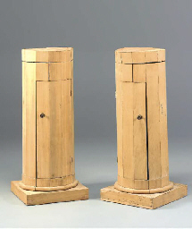 A PAIR OF ITALIAN WALNUT POLYG