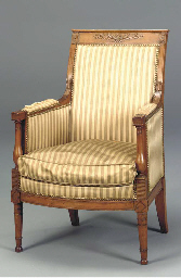 A DIRECTOIRE STAINED BEECHWOOD