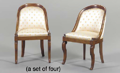 A SET OF FOUR LOUIS PHILIPPE S