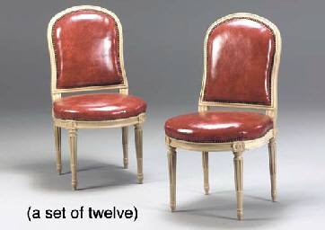 A SET OF TWELVE LOUIS XVI STYL
