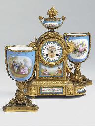 A Napoleon III ormolu and porc