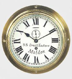 An English brass bulkhead time