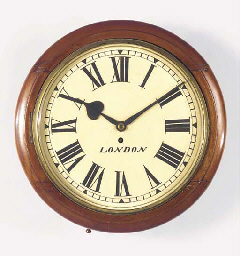 An English mahogany dial timep