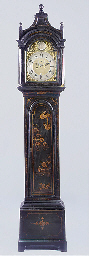 A black and gilt japanned long