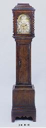 A walnut miniature longcase ti