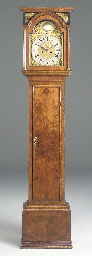 A George I walnut longcase clo